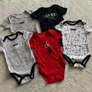5 pack baby Calvin Klein bodysuit bundle